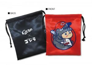 Carp × ゴジラ 巾着